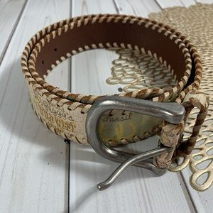 Fossil | Cowgirl Leather Belt Sz S